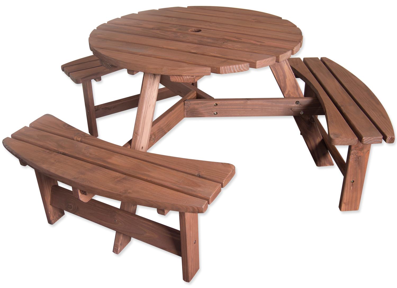 Pressure treated seater round pub bench outdoor garden