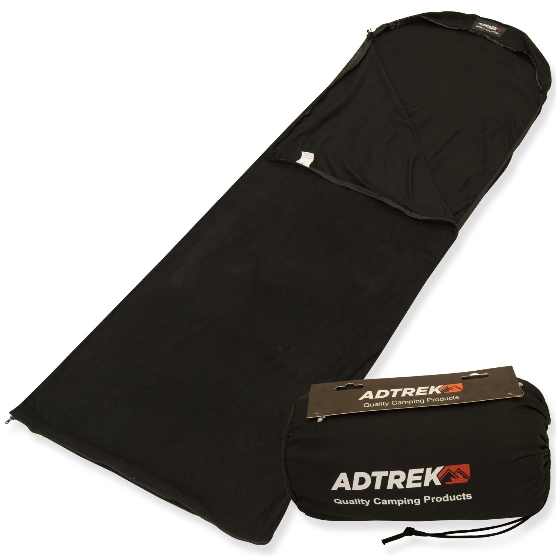 adtrek fleece rectangle sleeping bag liner sleeping bags