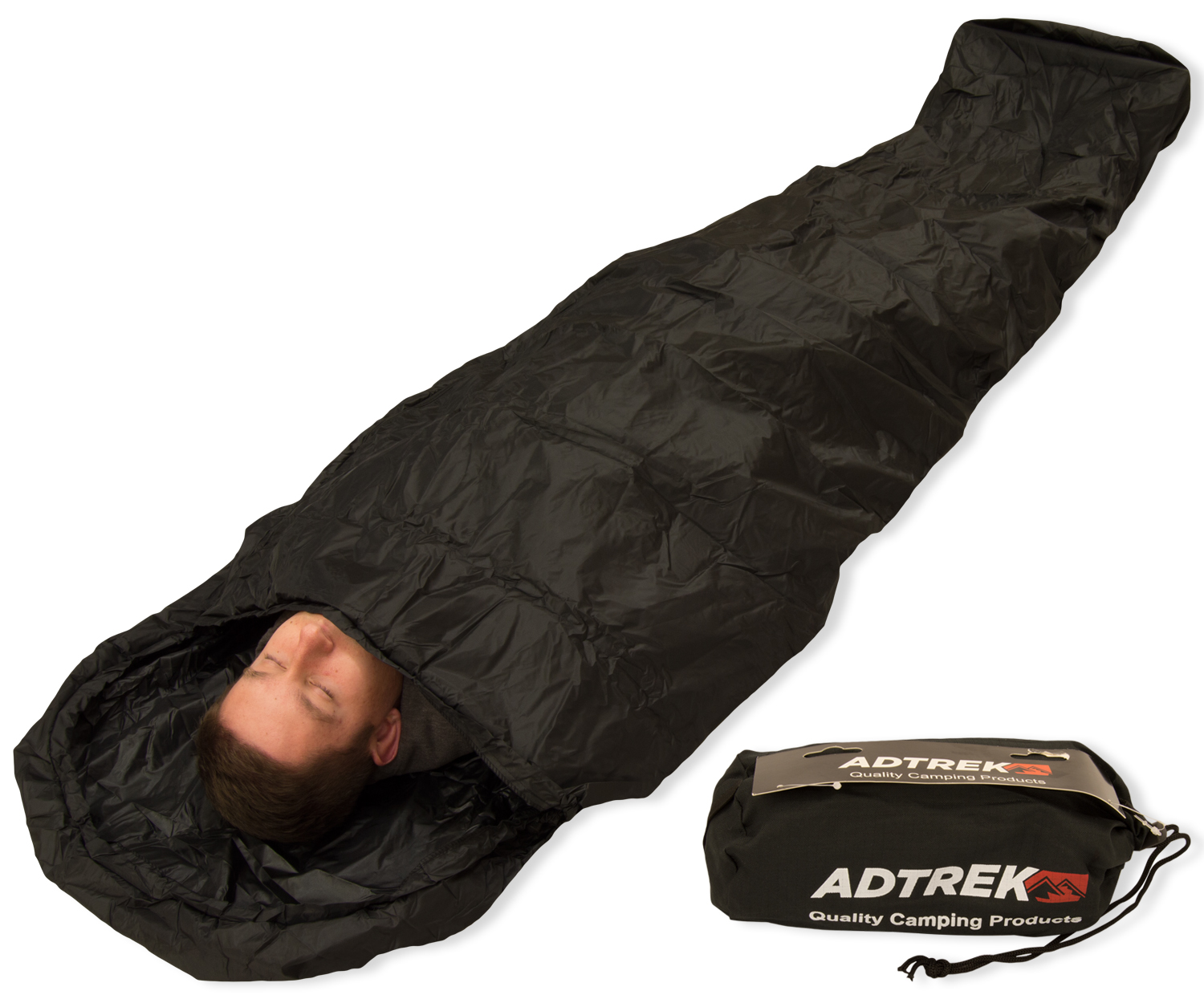 Adtrek Camping/Fishing Waterproof Sleeping Bag Bivvy Bag ...