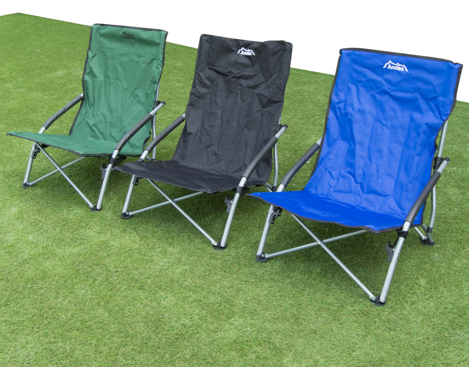 Andes Low Folding Beach Fishing Camping Deck Chair Outdoor Garden Lounger