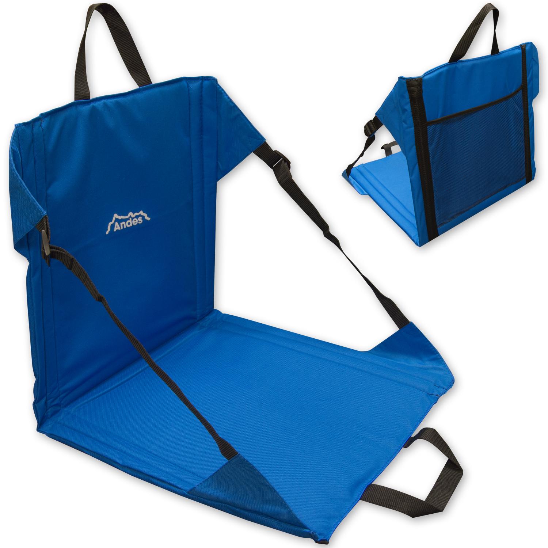 Andes Blue Folding Beach Chair Outdoor Garden Portable