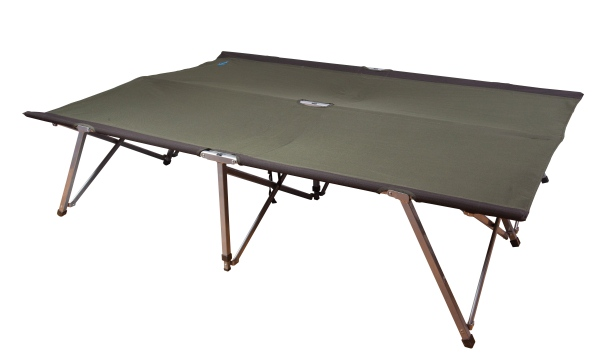 Kampa folding portable together double steel frame camping camp bed ebay - Camif bed frame ...