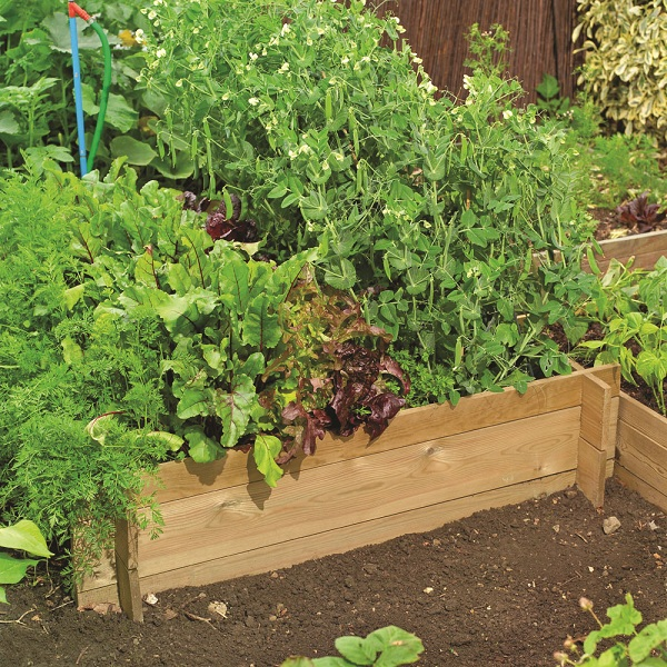 Raised Timber Flower Bed Garden Wood Wooden Planting