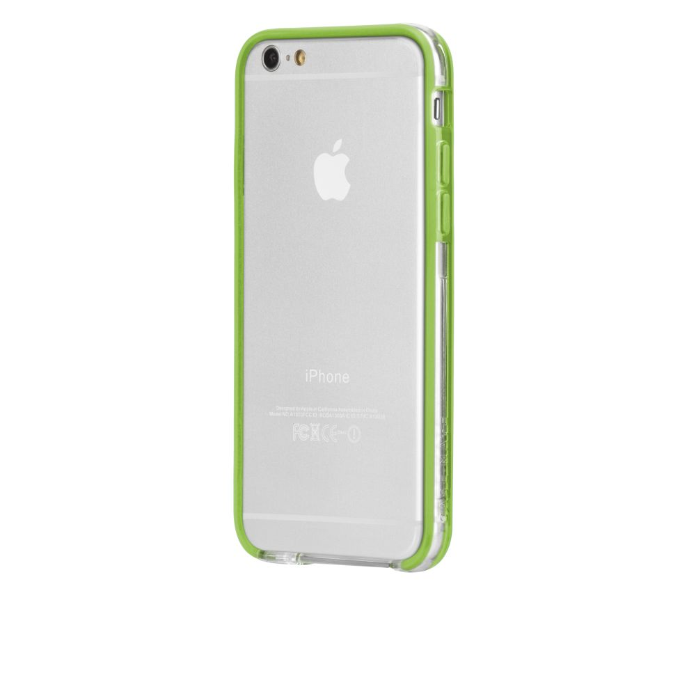 Case-Mate Tough Frame Ultra Slim Bumper Case for iPhone 6 6S 7 7S Clear/Lime NEW