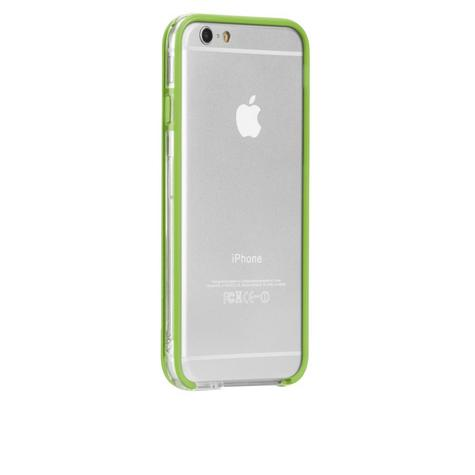 Case-Mate Tough Frame Ultra Slim Bumper Case for iPhone 6 6S 7 7S Clear/Lime NEW Thumbnail 2