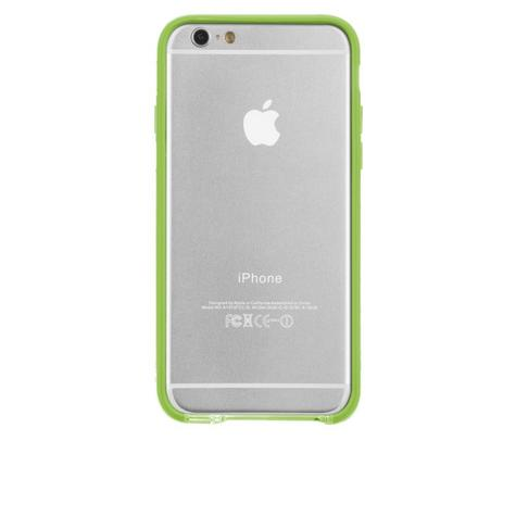 Case-Mate Tough Frame Ultra Slim Bumper Case for iPhone 6 6S 7 7S Clear/Lime NEW Thumbnail 3