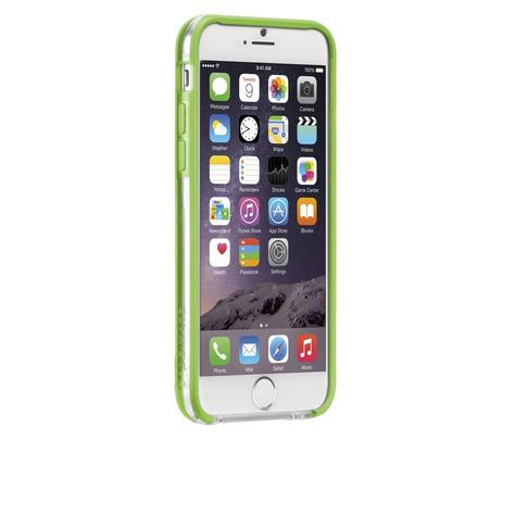 Case-Mate Tough Frame Ultra Slim Bumper Case for iPhone 6 6S 7 7S Clear/Lime NEW Thumbnail 5