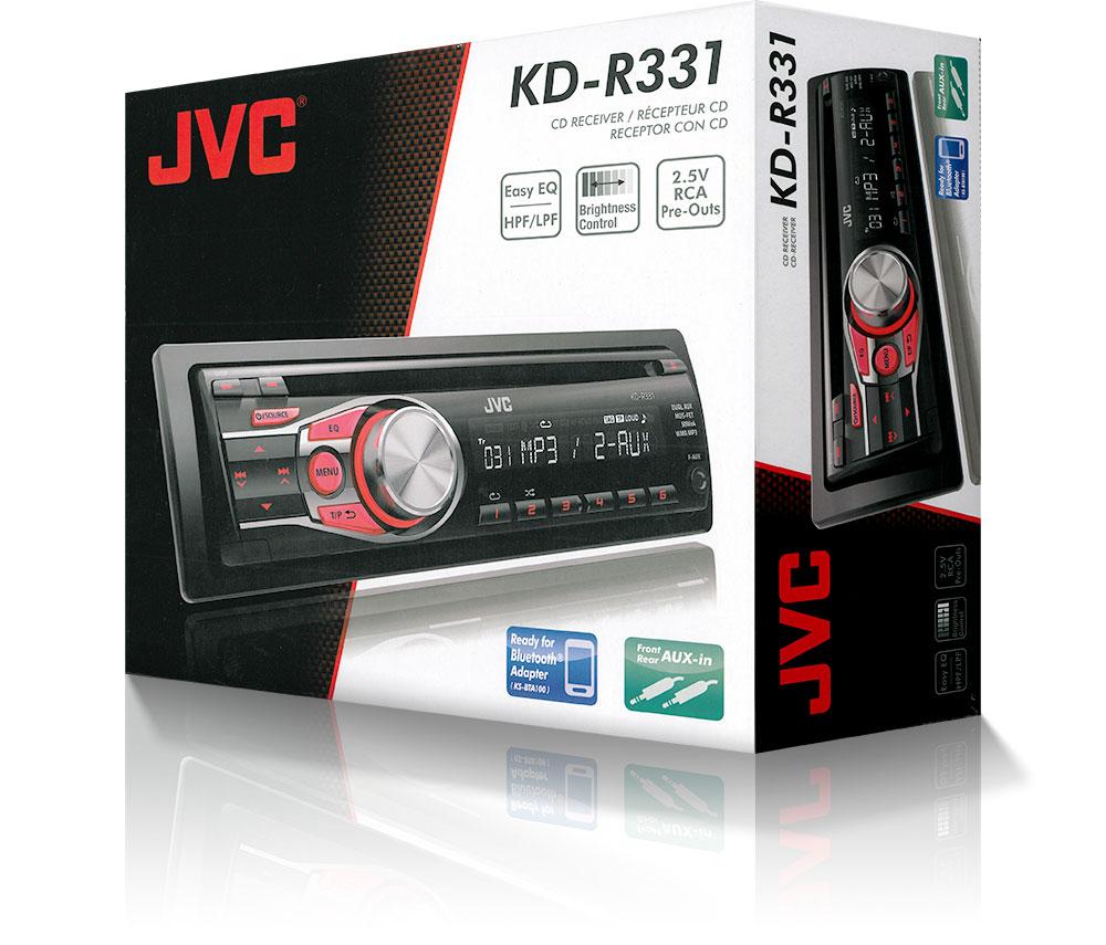 JVC Car Stereo/ Headunit 1DIN│Radio│CD│MP3│WMA│2 AUX│Black