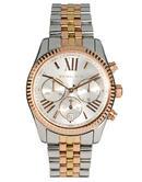 Michael Kors Ladies' Lexington Gold & Silver Tone Chronograph Watch MK5735