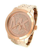 Michael Kors Ladies' Runway Oversize Logo Design Rose Gold Tone Watch MK5661