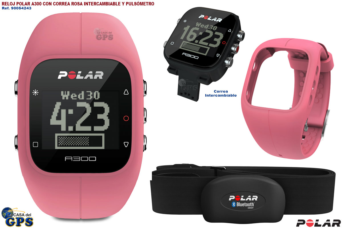 Polar A300 Pink Fitness Activity Tracker Heart Rate ...