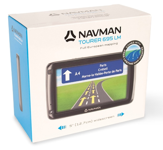 Navman Tourer 695LM GPS SATNAV + UK EUROPE LIFETIME Map Updates & Traffic Alerts