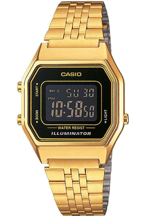 Casio Ladies Digital Gold Colour Retro Vintage Classic Watch LA680WEGA-1BER