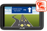 "Mio Moov 616LM 5"" GPS SAT NAV + TomTom IQ Routes & LIFETIME UK & ROI Map Updates"