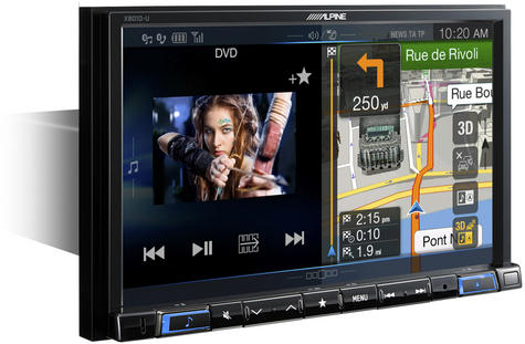"Alpine X801D U 8"" Navi GPS SatNav DAB HDMI USB Bluetooth Aux Fits iPod iPhone Thumbnail 1"
