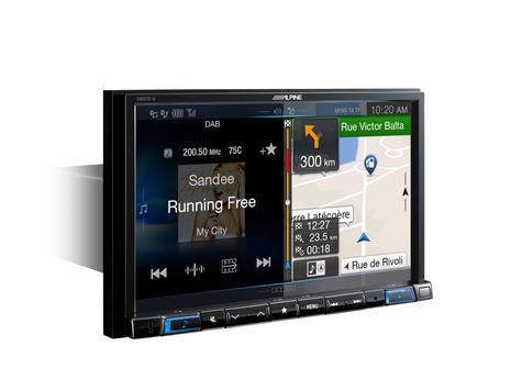 "Alpine X801D U 8"" Navi GPS SatNav DAB HDMI USB Bluetooth Aux Fits iPod iPhone Thumbnail 4"