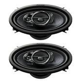 "PIONEER TS A4633i 6"" x 4"" 3 Way Custom Fit Speakers"