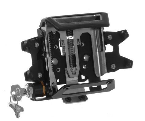 Touratech Lockable Mount For Montana 600 GPS SAT NAV Series Black for Motorbike Thumbnail 1
