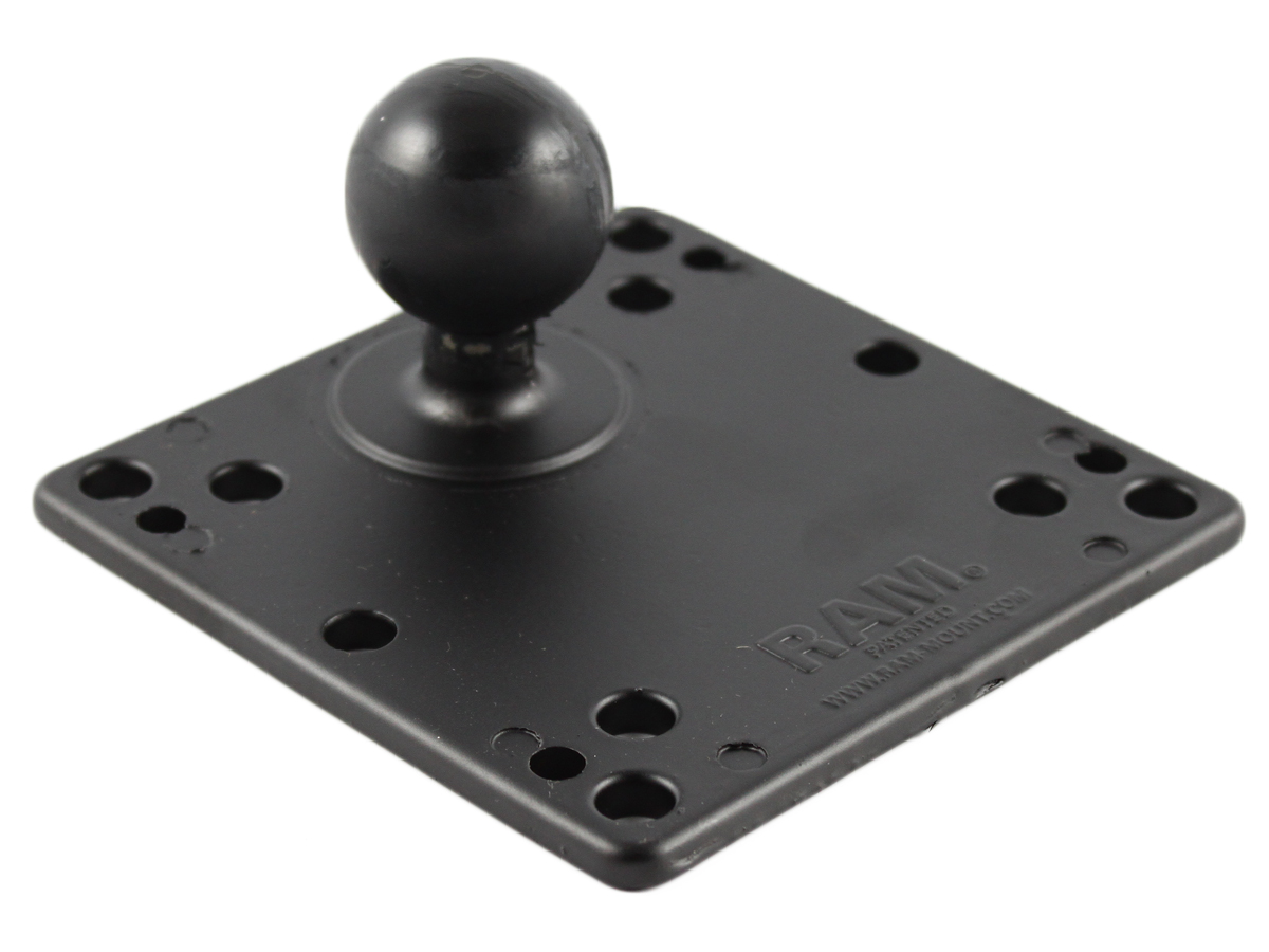 """Ram Mounts 1.5"""" Rubber Ball To Vesa Plate With 75 And 100MM Holes"""