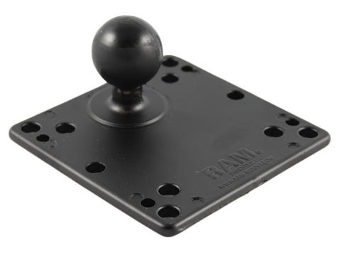 """Ram Mounts 1.5"""" Rubber Ball To Vesa Plate With 75 And 100MM Holes Thumbnail 1"""
