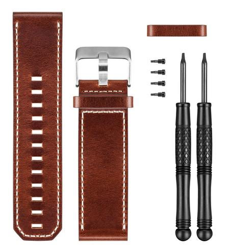 Garmin Fenix 3 Quatix Tactix Brown Leather Wrist Watch Band Strap 010-12168-12 Thumbnail 2