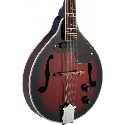 Stagg Adjustable Redburst Electro-Acoustic Bluegrass Mandolin with Nato Top M50E Thumbnail 3