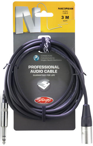Stagg Professional Audio Cable Phone Plug- XLR 3M Music Thumbnail 2