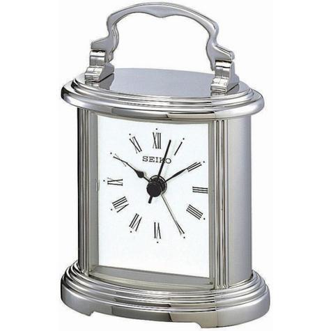 Seiko Silver Mantel Clock QHE109S Thumbnail 2