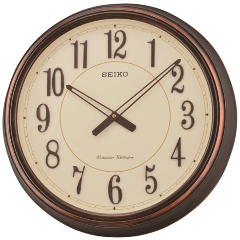 Seiko westminster whittington dual chimes wall clock for Dual time wall clock
