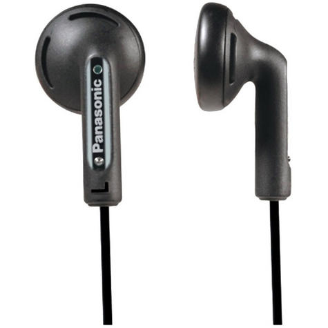 Panasonic Stereo Earphones for iPhone, Smart Phone, MP3 Player RP-HV094 Black Thumbnail 2