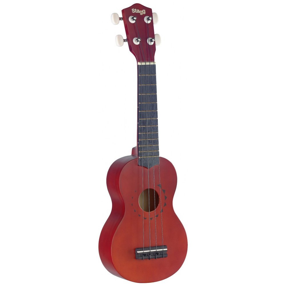 Stagg Traditional Soprano Ukulele With Tattoo Design and Gigbag Music