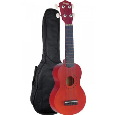 Stagg Traditional Soprano Ukulele With Tattoo Design and Gigbag Music Thumbnail 2
