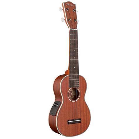 Stagg Electro-Acoustic Soprano Ukulele - Mahogany Music Thumbnail 2