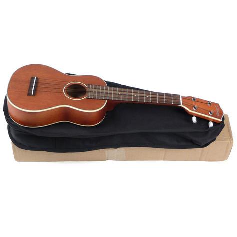 Stagg Electro-Acoustic Soprano Ukulele - Mahogany Music Thumbnail 3
