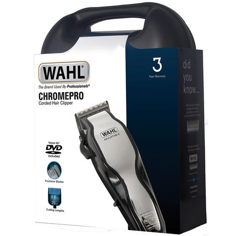 Wahl 79524-800 Chrome Pro Full Complete Home Hair Cutting Clipper Trimmer Set Thumbnail 4