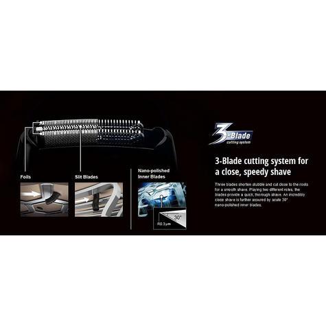 NEW Panasonic ESRT47S Wet/Dry Washable 3-blades Men's Electric Smooth Shaver Thumbnail 5