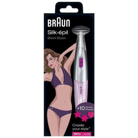 Braun Bikini Styler & Shaver - Pink Ladies Electric Shaver Razor Blade Thumbnail 4