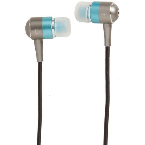 Groov-e Metal Buds Stereo Earphones - Silver/Blue GVEBMBE Thumbnail 2
