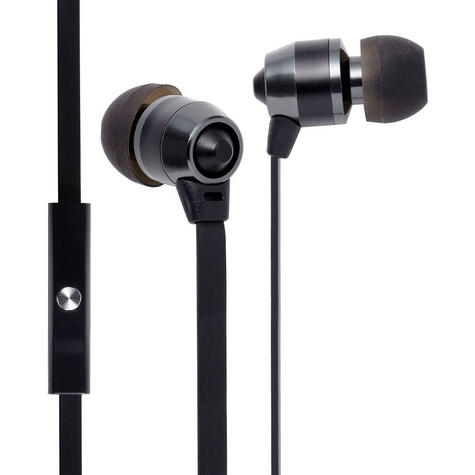 Groov-e Smart Buds Metal Earphones Remote & Mic MP3 iPhone Android GV-EB10BK Thumbnail 1