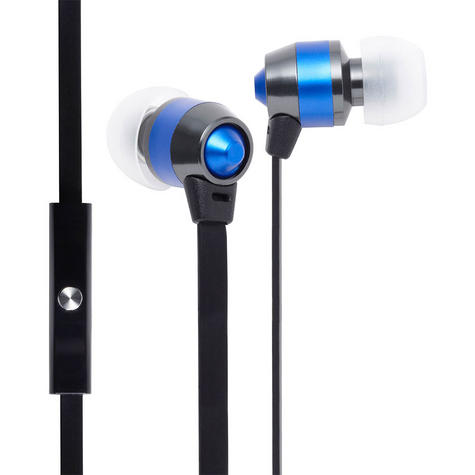 Groov-e Smart Buds Metal Earphones & Remote & Mic MP3 iPhone Android GV-EB10BE Thumbnail 1