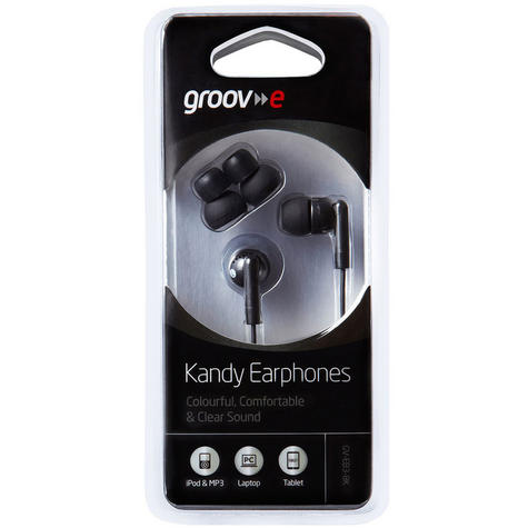 Groov-e Kandy Earphones - Black GVEB3BK Thumbnail 3