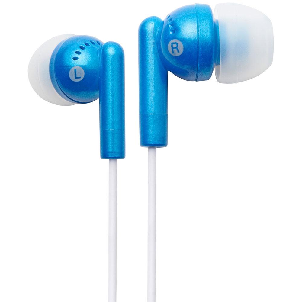 NEW Groov-e GVEB3BE Kandy Stylish Earphones for Apple Android Smartphones BLUE