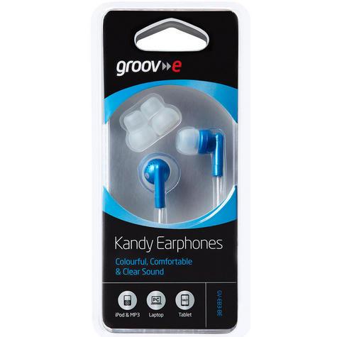 NEW Groov-e GVEB3BE Kandy Stylish Earphones for Apple Android Smartphones BLUE   Thumbnail 2