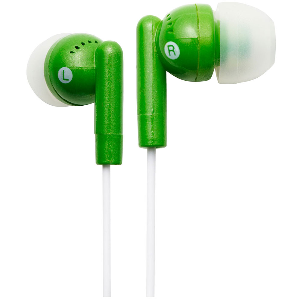NEW Groov-e GVEB3GN Kandy Stylish Earphones for Apple Android Smartphones GREEN