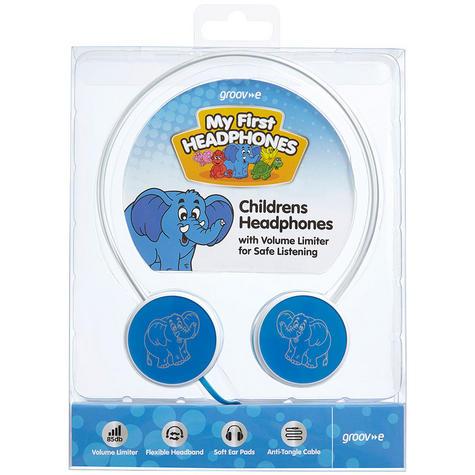 Groov-e Kids Children's Toy Playtime Noise Limited Blue Over Ear Earphones Thumbnail 8