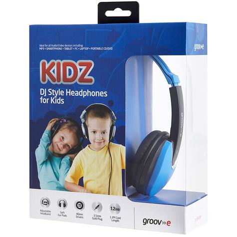 Groov-e Kidz DJ Style Headphone - Blue/Black GV590BB Thumbnail 5