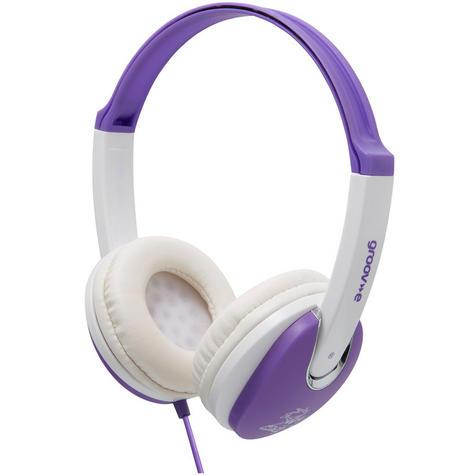 Groov-e Kidz DJ Style Headphone - Violet/White GV590VW Thumbnail 2