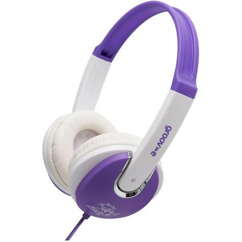 Groov-e Kidz DJ Style Headphone - Violet/White GV590VW Thumbnail 4