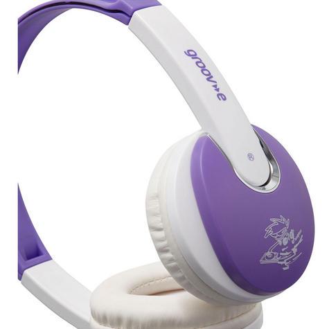Groov-e Kidz DJ Style Headphone - Violet/White GV590VW Thumbnail 3
