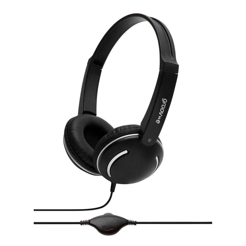 Groov-e Streetz Stereo Headphones with Volume Control - Black GV897BK